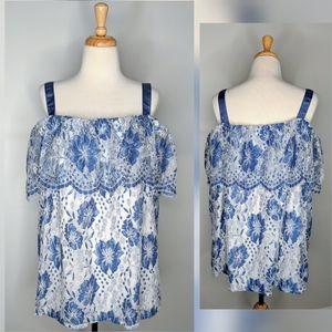 Lane Bryant | floral off shoulder shirt | 22/24